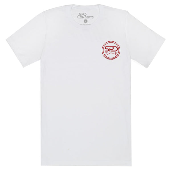 Less Talk More Speed Wave Tee SPDConcepts