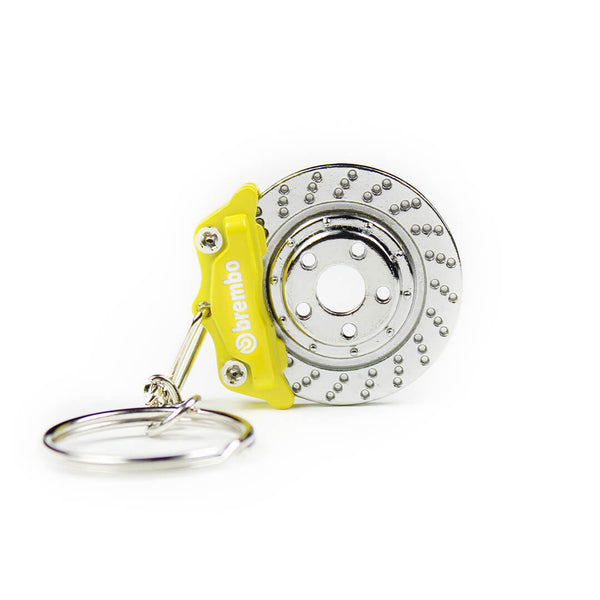 Yellow Brembo Brake KeyChain SPD