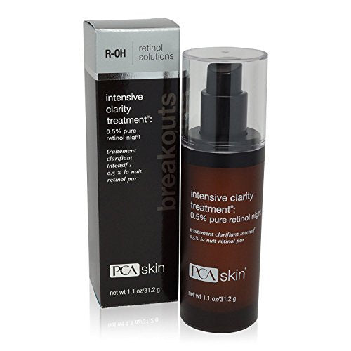 PCA Skin Intensive Clarity Treatment®: 0.5% pure retinol night net wt 1.1 oz	/ 31.2 g
