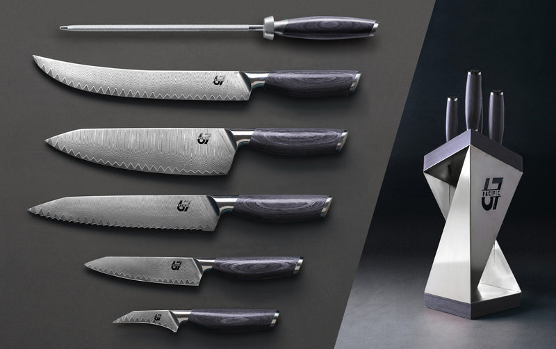 6 Piece Set + Knife block - Pacific67 Innovation Studio FZ-LLC