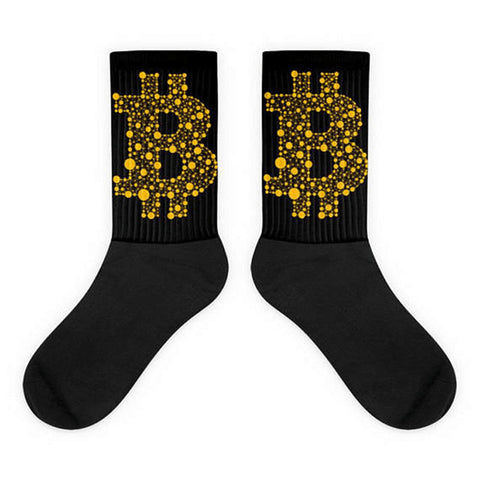 Bitcoin All Black Socks