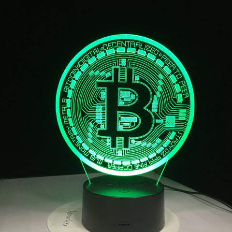 Bitcoin LED Sign (7-Colors)