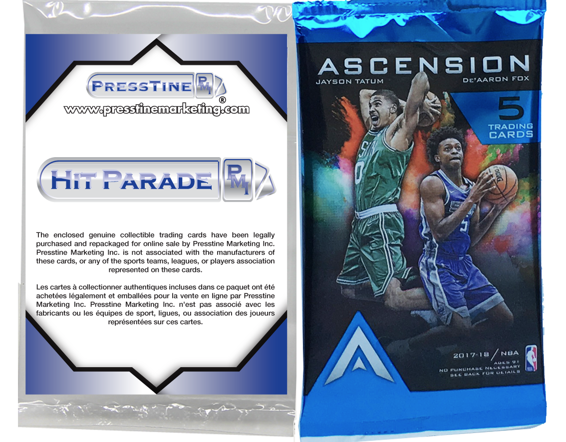 - Presstine Basketball Hit Parade 2017-2018 Panini Ascension Edition