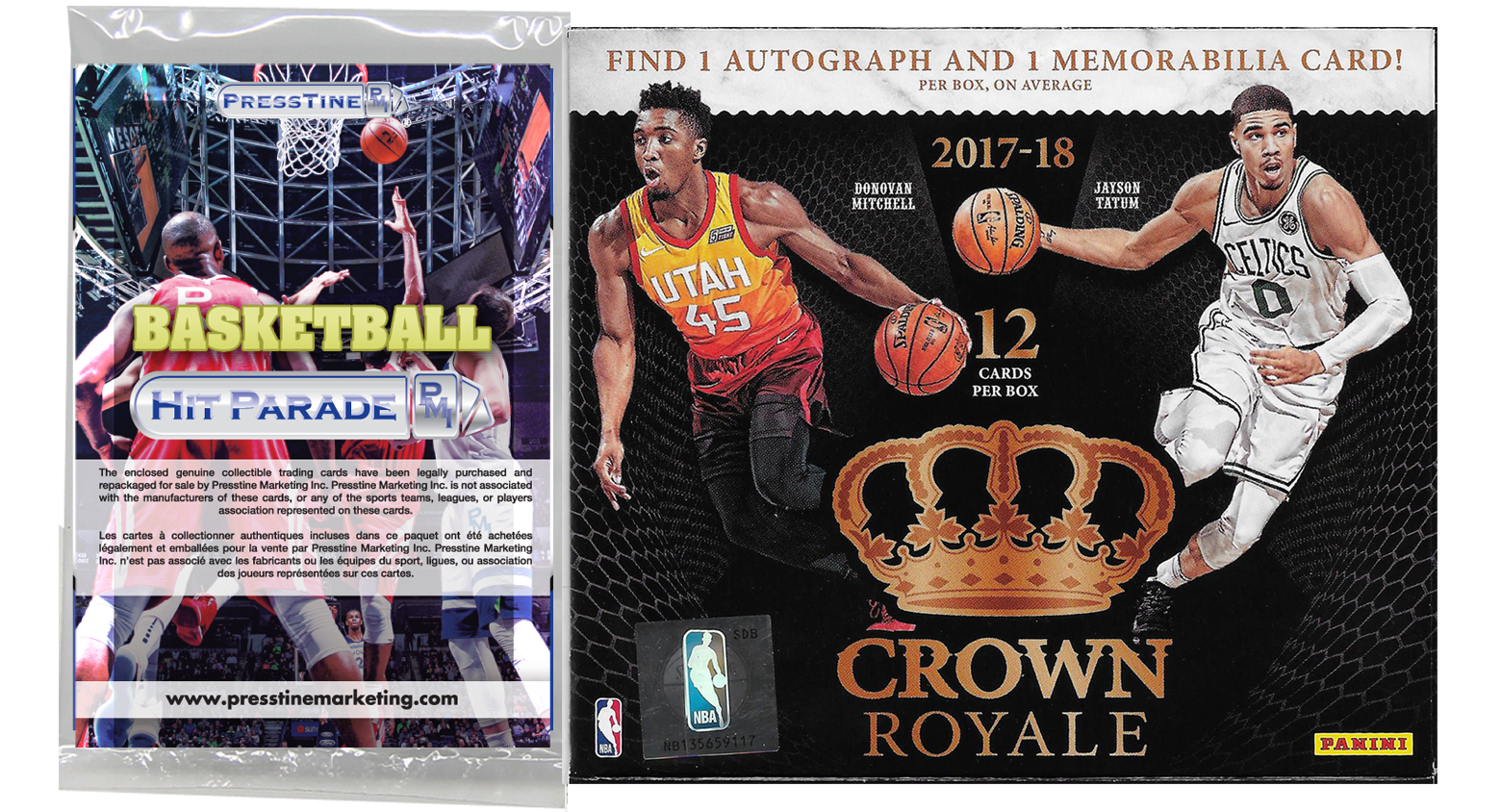 - Presstine Basketball Hit Parade 2017-2018 Panini Crown Royale Edition