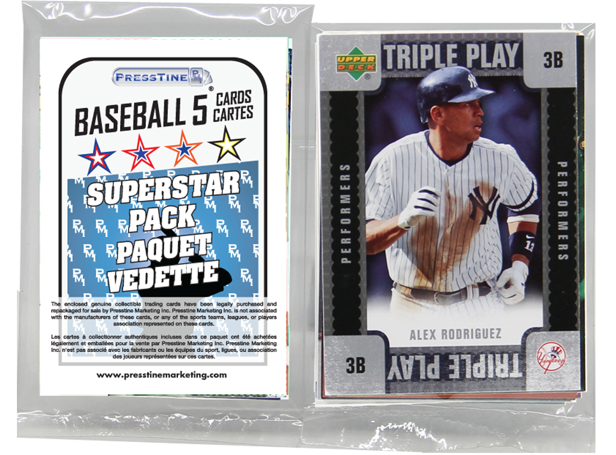 - Baseball 5 Card Superstars Presstine Pack