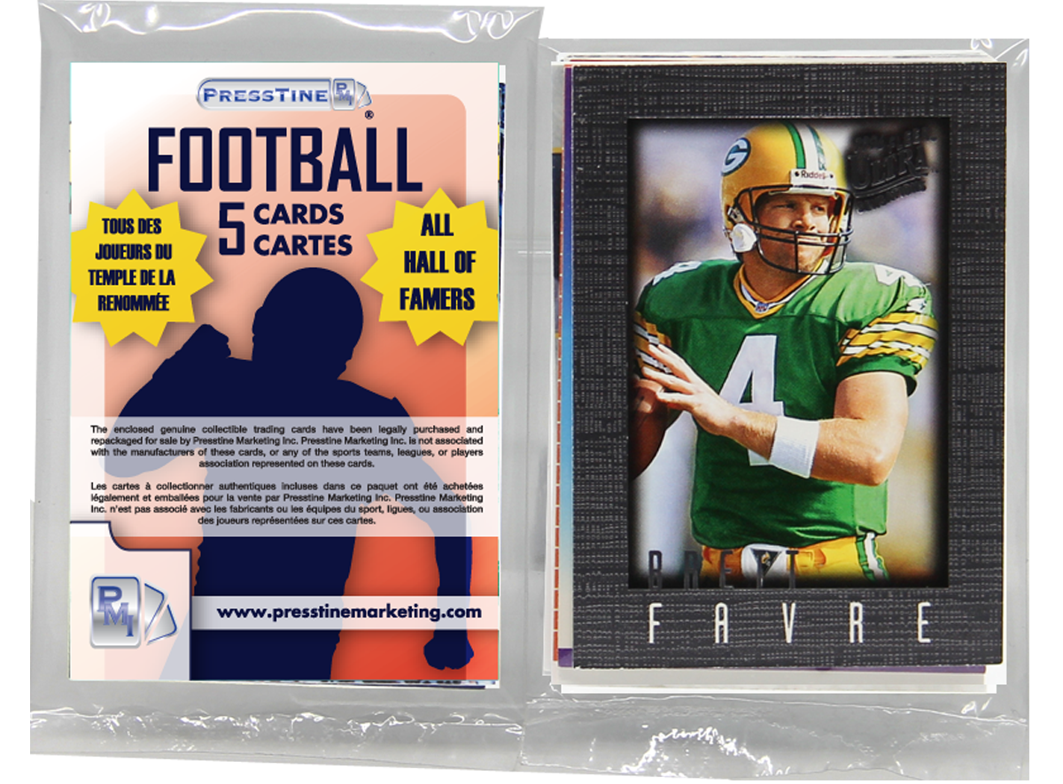- Football 5 Card Hall Of Famers Presstine Pack