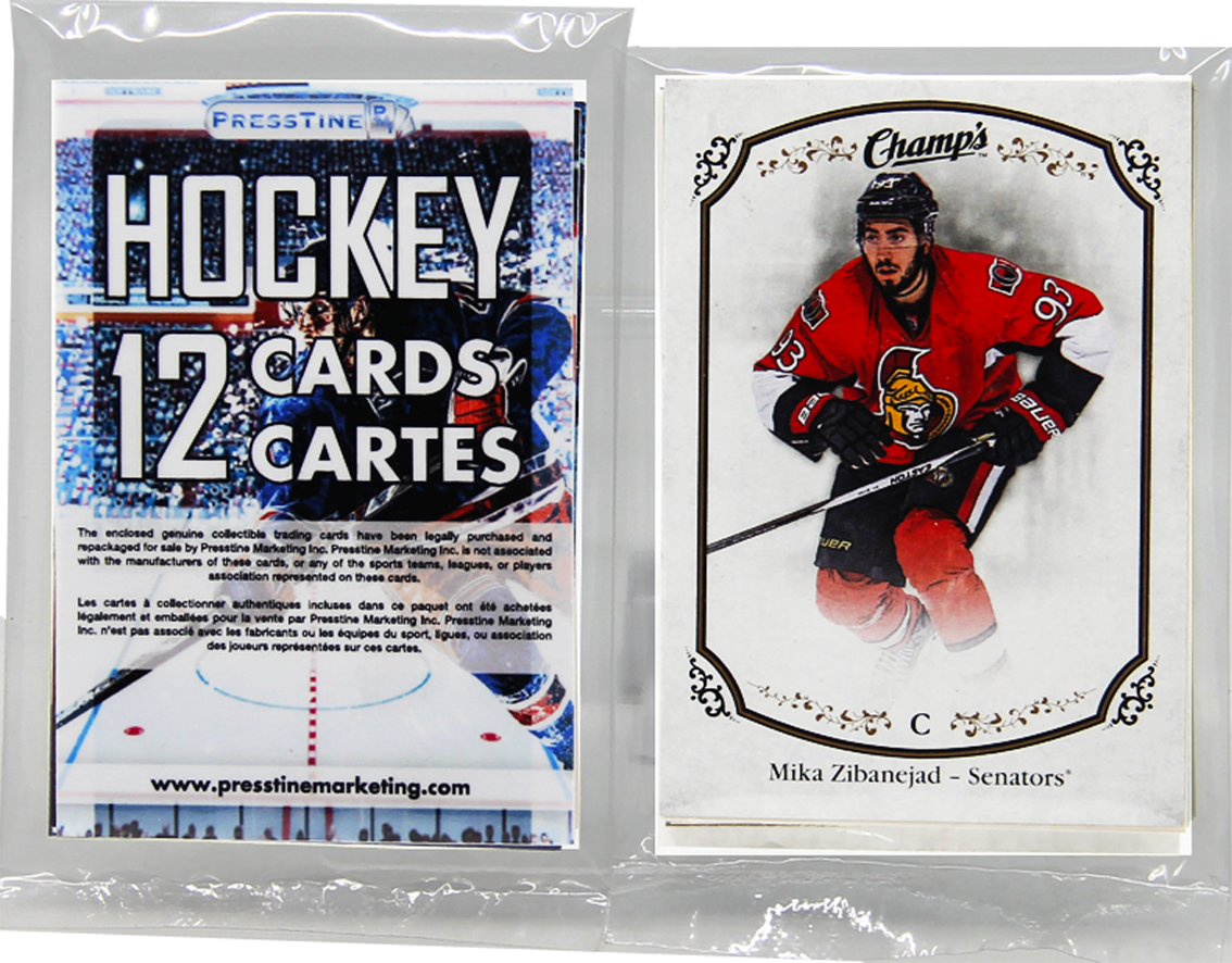 - Hockey 12 Card Presstine Pack