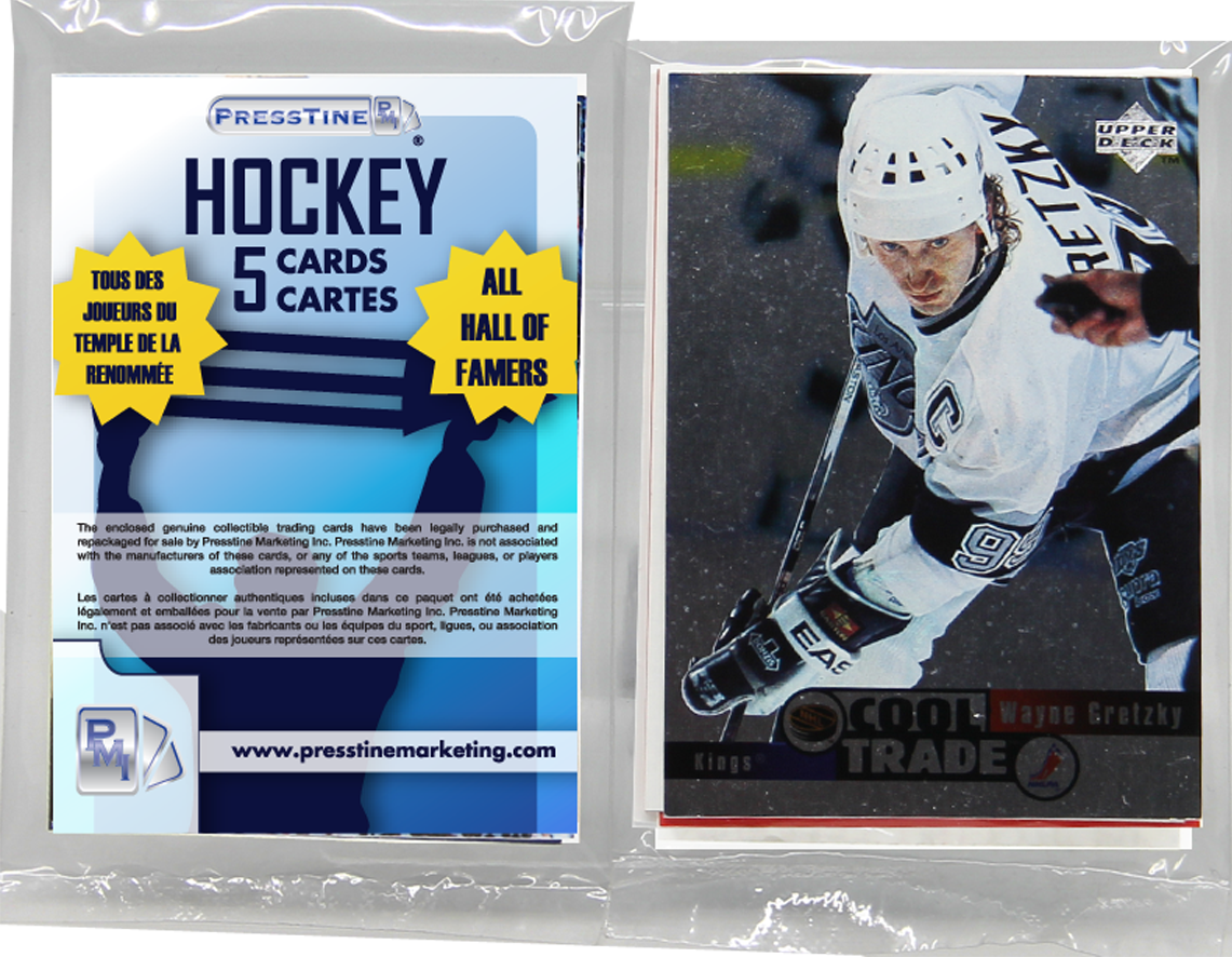 - Hockey 5 Card Hall Of Famers Presstine Pack