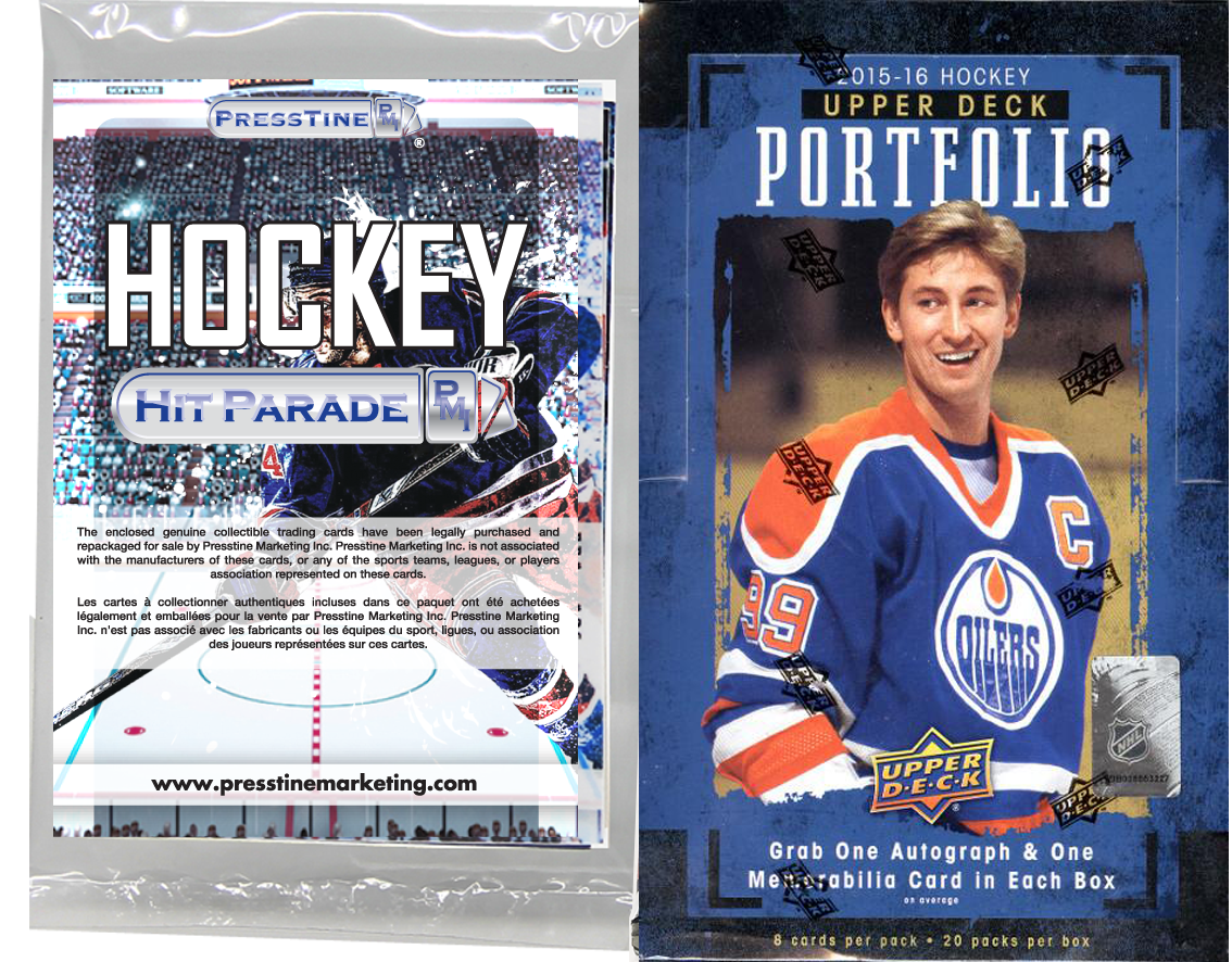 - Presstine Hockey Hit Parade 2015-2016 Upper Deck Portfolio Edition