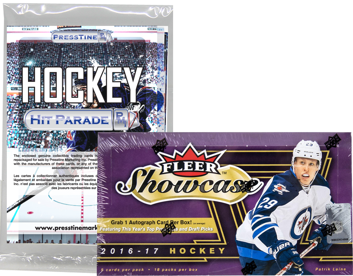 - Presstine Hockey Hit Parade Fleer 2016-2017 Showcase Edition