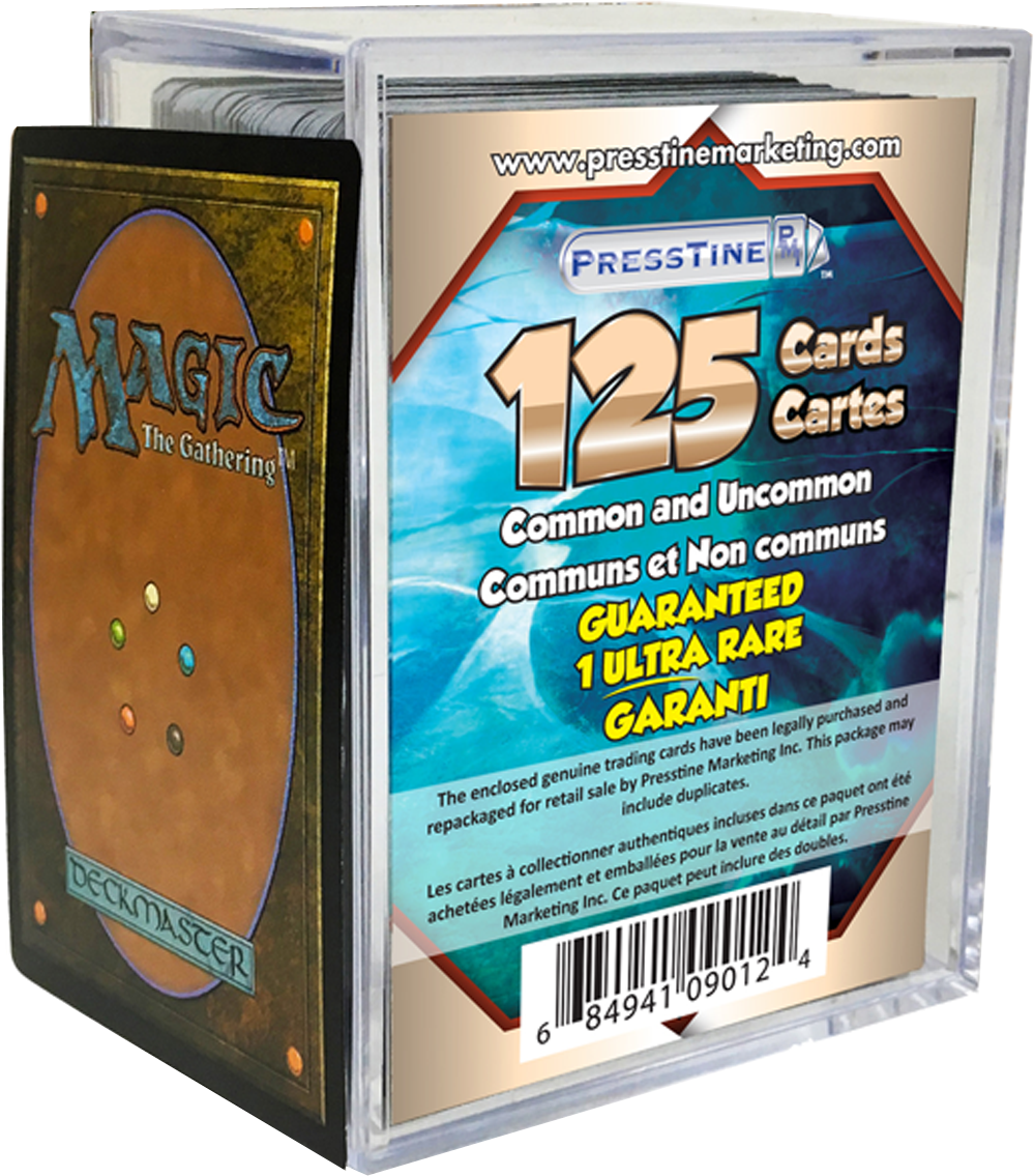 - Magic The Gathering 125 Card Presstine Cube with 1 Mythic