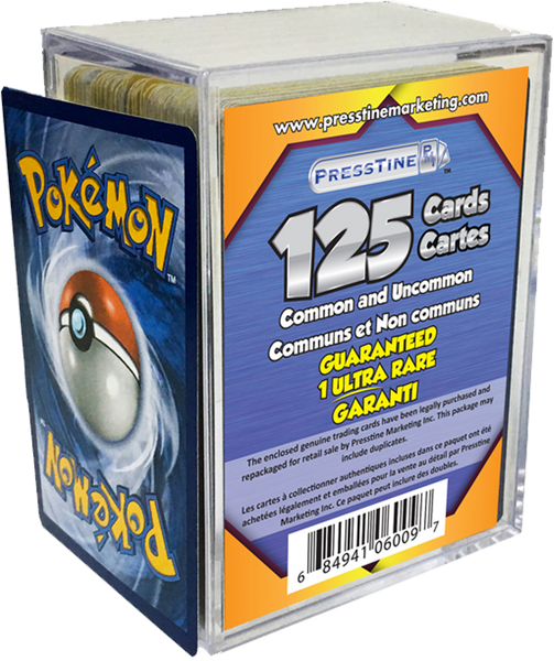 - Pokemon 125 Card Presstine Cube with 1 Ultra Rare