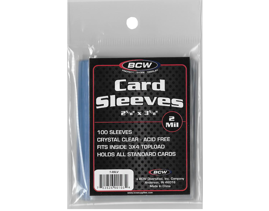 - BCW Standard Trading Card Sleeves