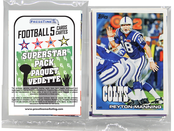 - Football 5 Card Superstars Presstine Pack