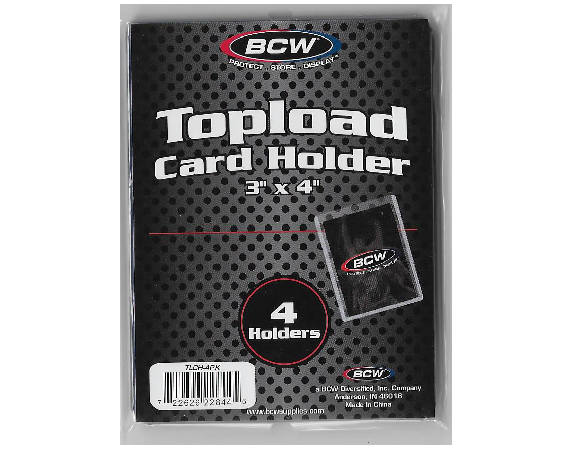 - BCW Standard Topload Card Holder
