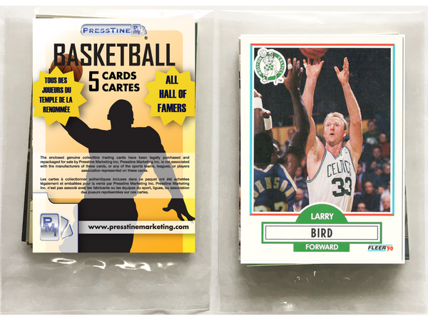 - Basketball 5 Card Hall Of Famers Presstine  Pack