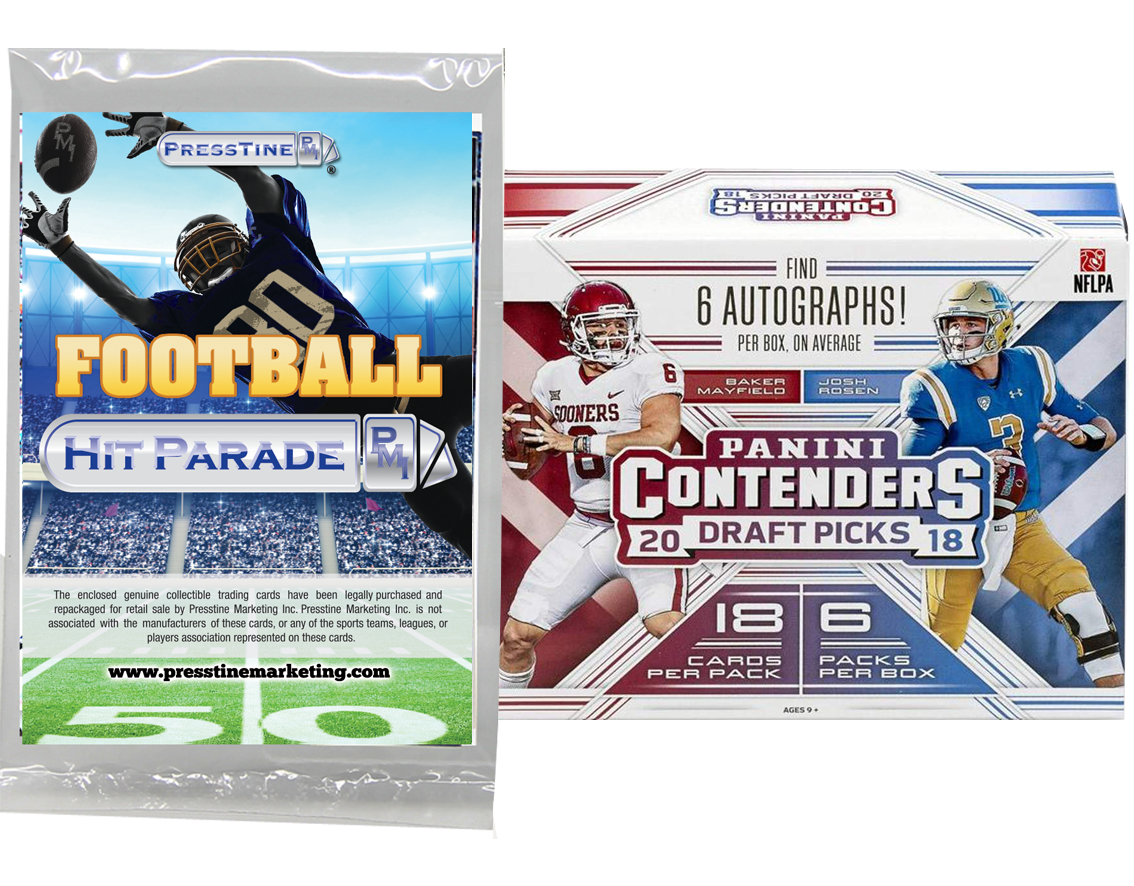 Football Cards Panini Contenders Draft Picks 2018 Presstine Hit Parade