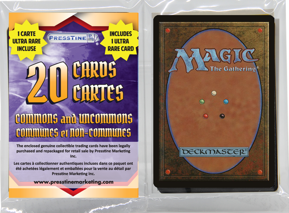 - Magic the Gathering 20 Card Presstine Pack with 1 Mythic