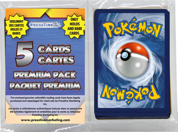 - Pokemon Premium 5 Card Presstine Pack