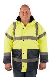 Warrior Hi Vis Denver 2 Tone Coat (18FAGTT)