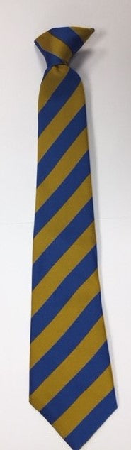 Royal/Gold Clip On Tie (Eastgate Academy)