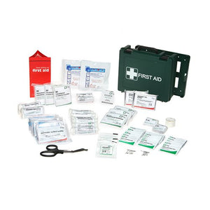 Standard Range First Aid Kit Complete with Wall Brackets
