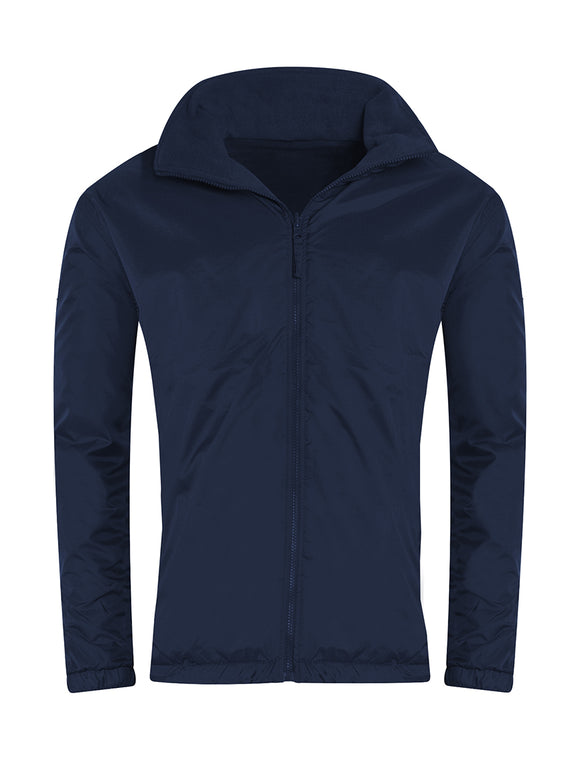 Navy Showerproof Jacket with South Wootton Junior embroidery