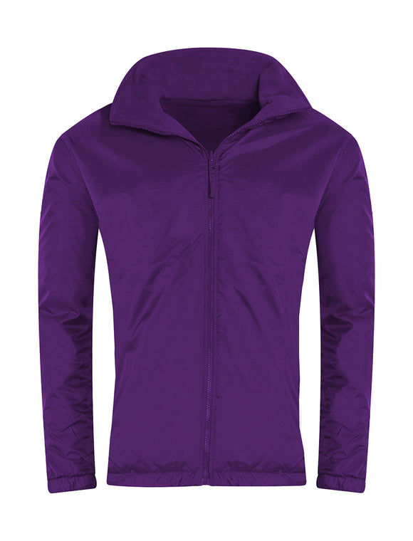 Purple Showerproof Jacket with South Wootton Pre School embroidery