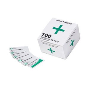 Moist Cleansing Wipes – Box 100 (MK82124)