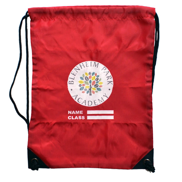 Red PE Bag with Blenheim print