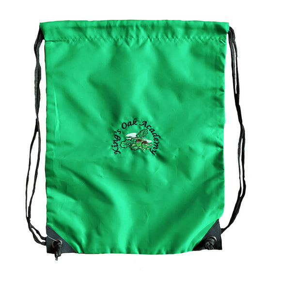 Kelly Green PE Bag with Kings Oak print