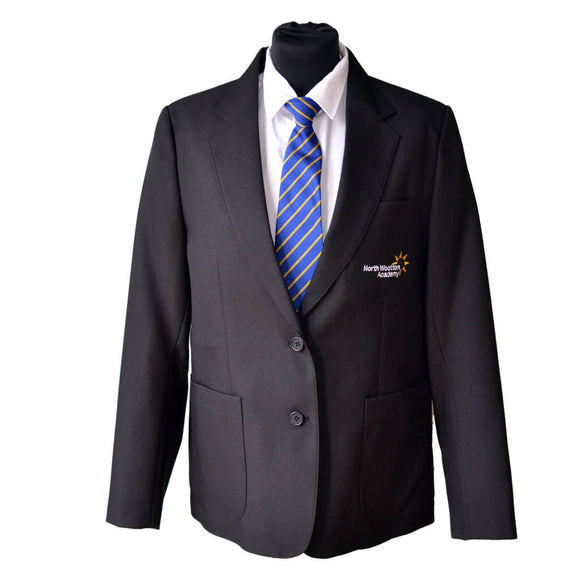 Black Blazer with North Wootton embroidery