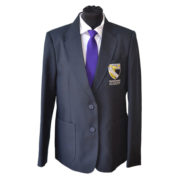 Navy Blazer with Downham Market embroidery