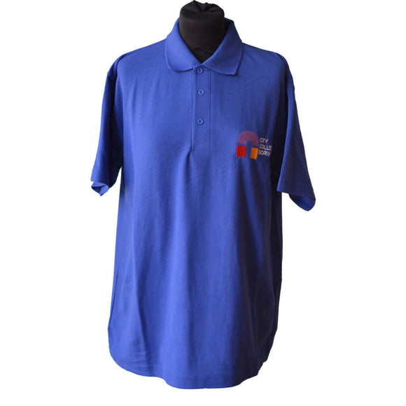 Uneek Classic Royal Blue Polo shirt with CCN embroidery