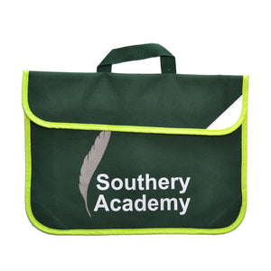 Bottle Green Book Bag with Southery print