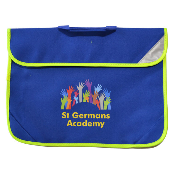 Royal Blue Book Bag with St Germans print