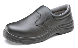 Black Micro Fibre Slip-On Shoes