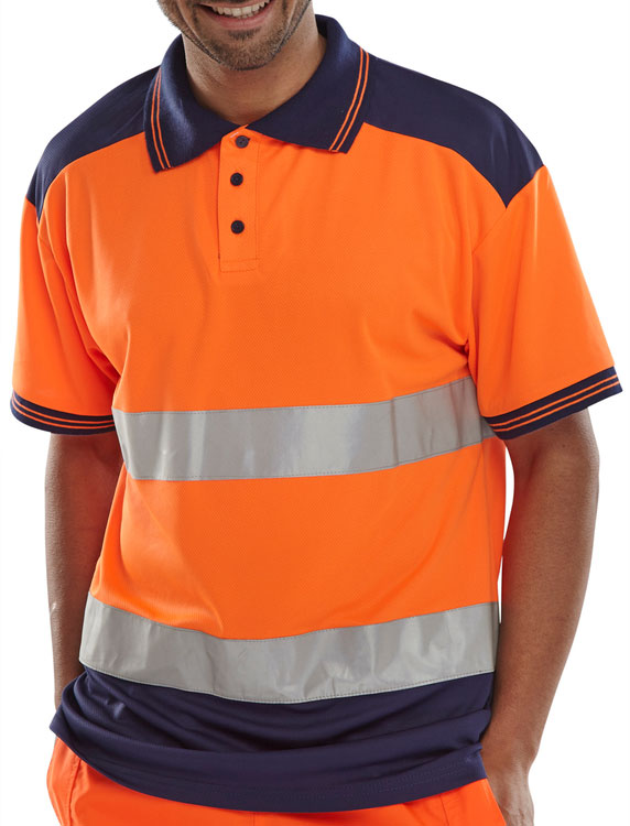 PK SHIRT 2TONE ORANGE/NAVY