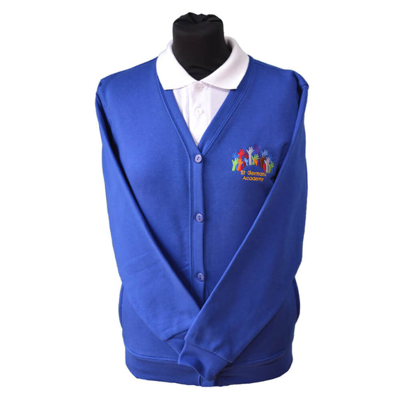 Royal Cardigan with St Germans embroidery