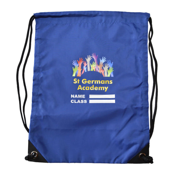 Royal Blue PE Bag with St Germans print