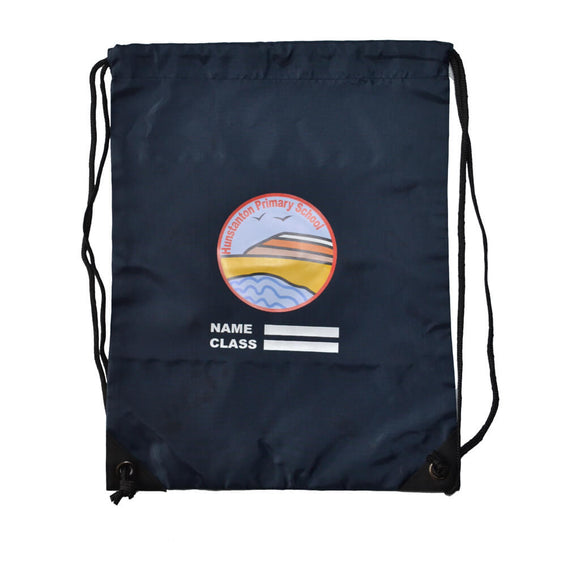 Navy PE Bag with Hunstanton print