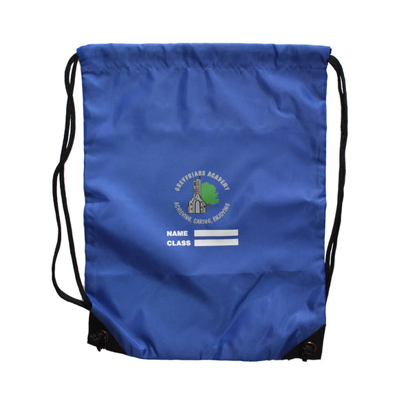 Royal Blue PE Bag with Greyfriars print