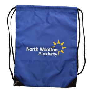 Royal Blue PE Bag with North Wootton print