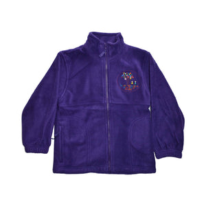 Purple Polar Fleece with South Wootton Pre School embroidery