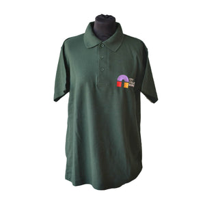 Uneek Classic Bottle Green Polo shirt with CCN embroidery