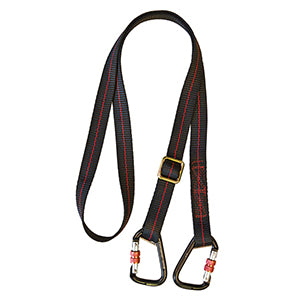 Pioneer Adjustable 2m Restraint Lanyard+Flat Webbing+2 Kara (FAR0208)