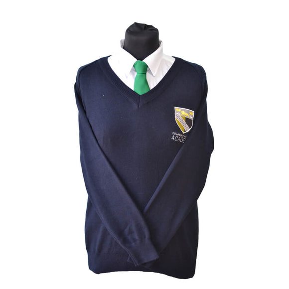 Navy Jumper with Downham Market embroidery