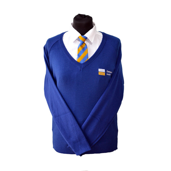 Royal Blue Jumper with Eastgate embroidery