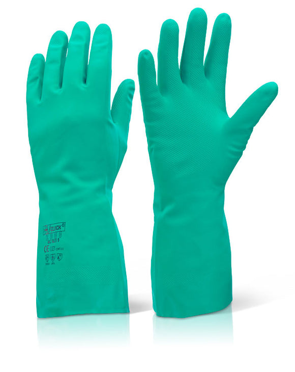 Nitrile Green Gloves