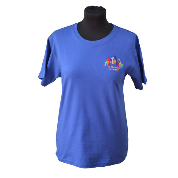 Royal T-shirt with St Germans embroidery